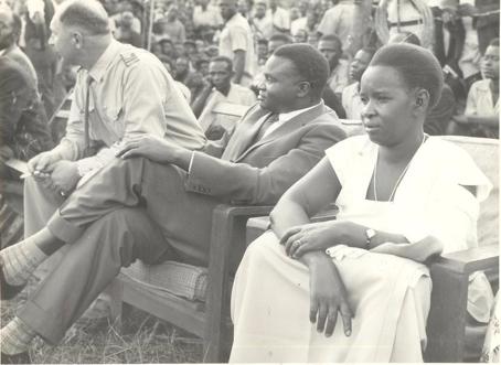 DM président et son épouse Sophie Nyirabuhake en 1961