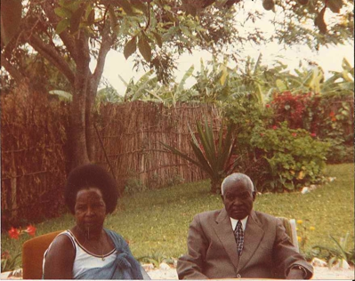 DM et SN à leur domicile à Gitarama vers 1985